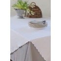 Chemin de table- Delphine - blanc
