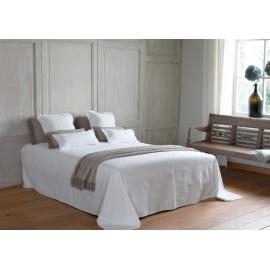 "Couvre lit ""Eleonor"" blanc"
