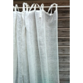 Lidi  rideau  blanc