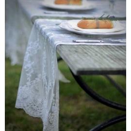 """Chemin de table """"Amélia"""" crème - Sélection Mas des Anges décoration."""