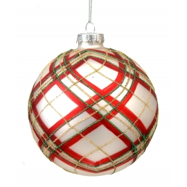 Boule de Noël - blanche/rouge/verte