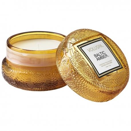 Baltic Amber - Macaron candle