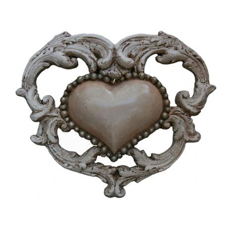 Cœur Baroque - petit modèle rose poudré