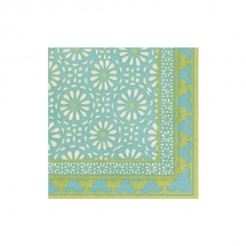 Serviette cocktail  Alhambra turquoise
