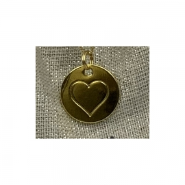 Médailles Coeur dorée