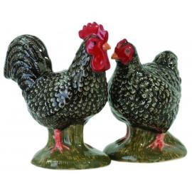 Oiseaux Marans - sel/poivre