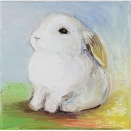 "Carte postale "" Lapin blanc"""