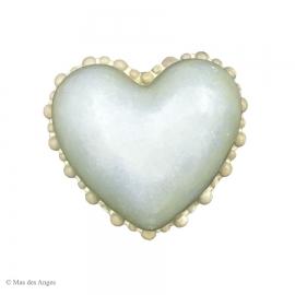 Coeur Valentine Perle - Bleu