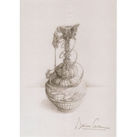 """Carte Postale """"Carafe Chainette"""" -  N°3"""