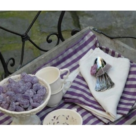 "Set de table ""Florence""- Prune"